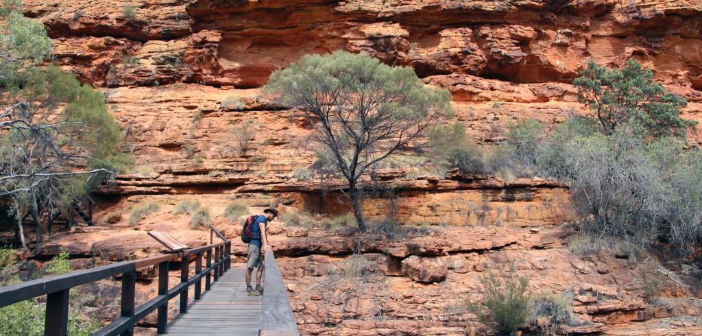 Passage de la randonnée