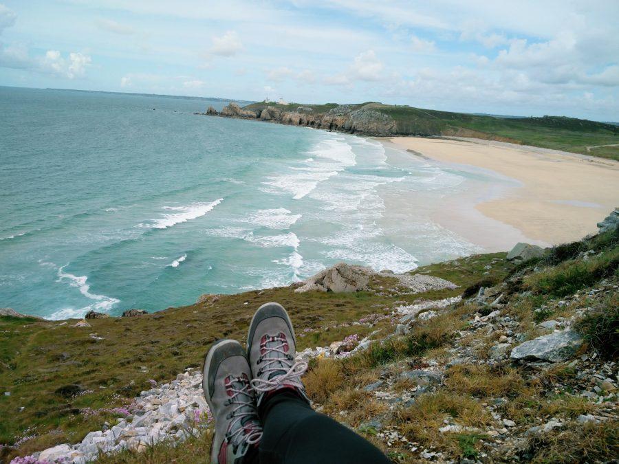 Une plage située sur la pointe de Pen-Hir
