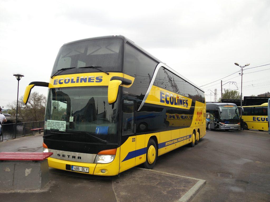 notre bus ecolines pour Riga