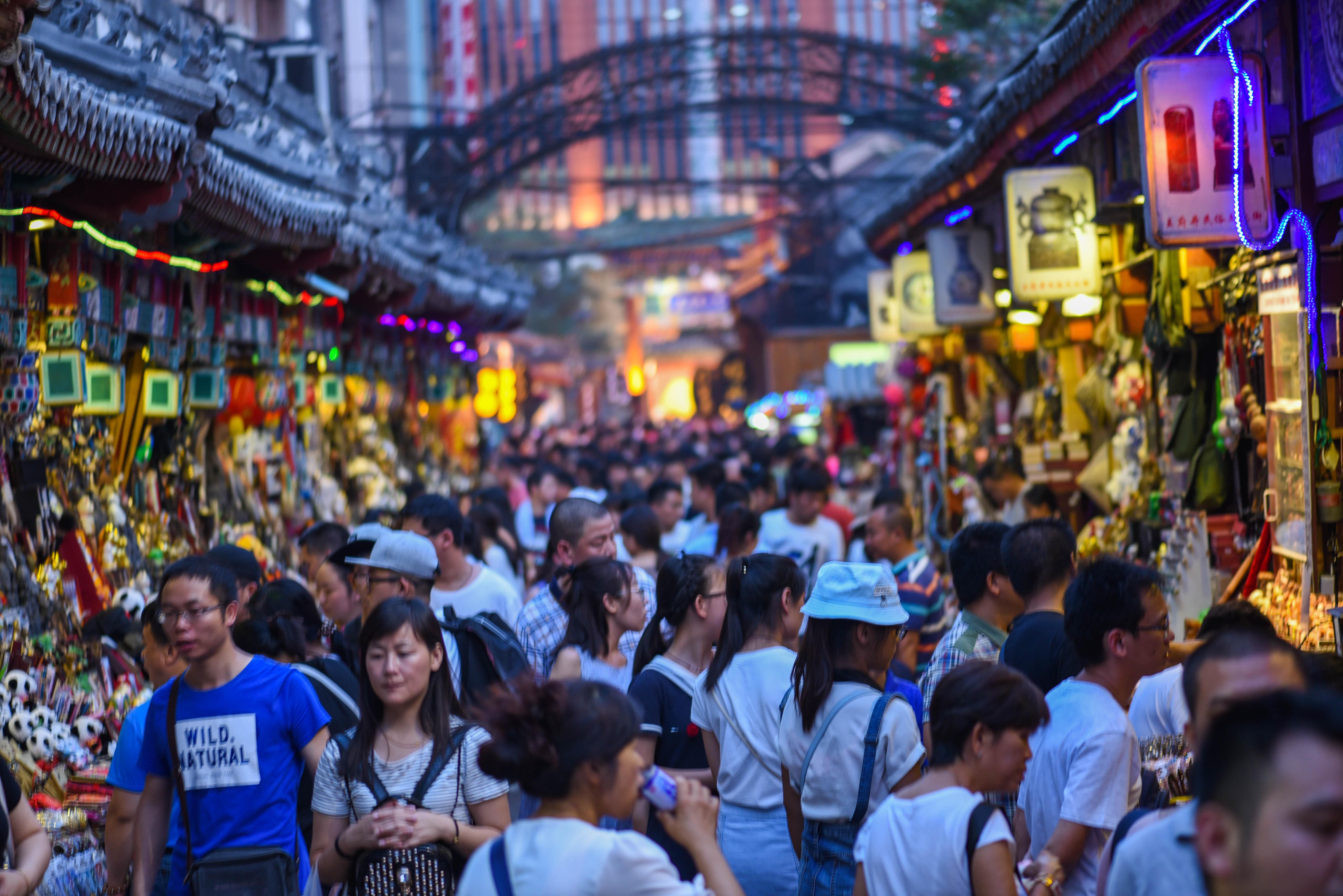 Foule au marché de Wangfujing @neweyes