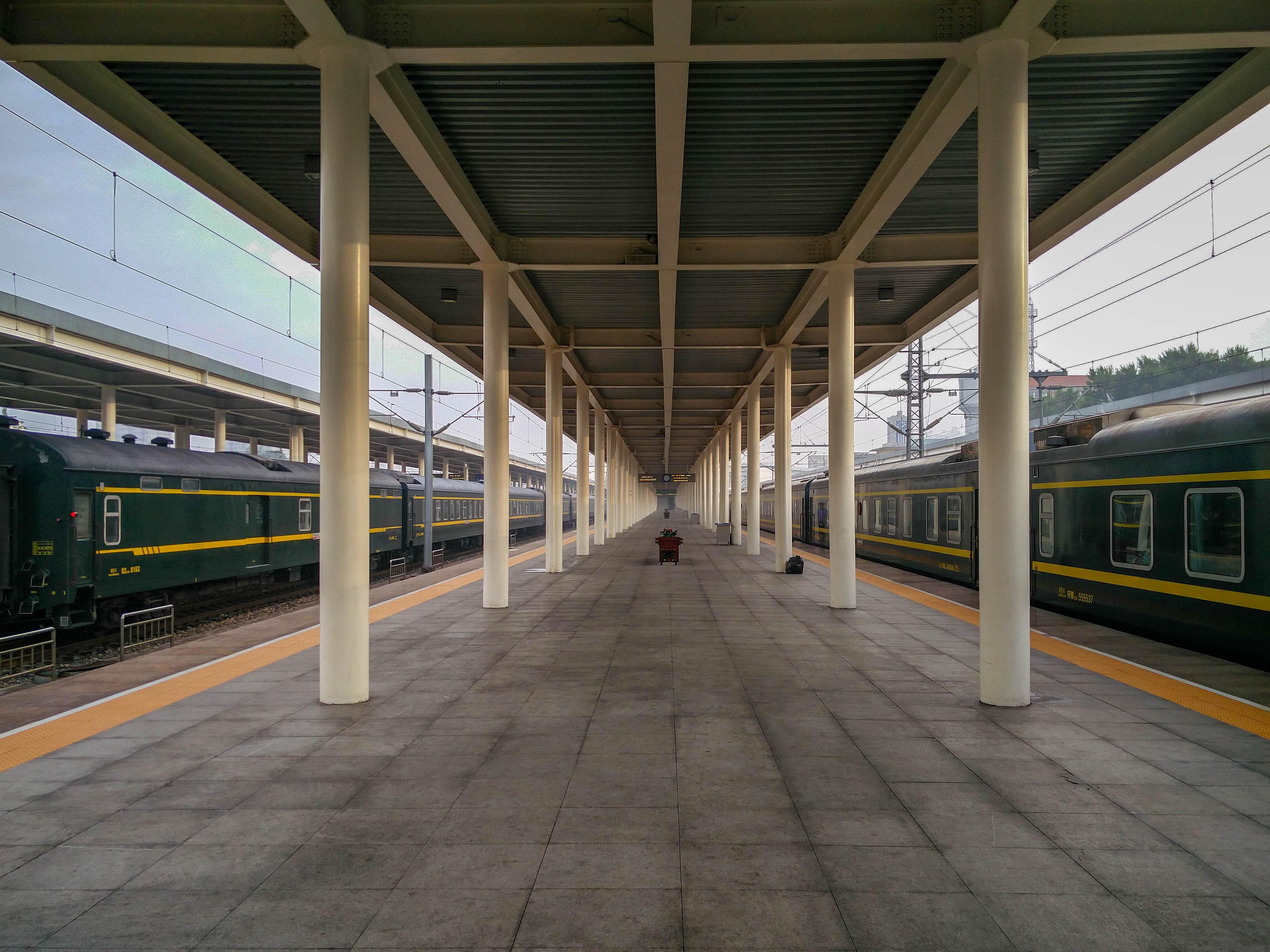 Passage de la frontière chinoise en train