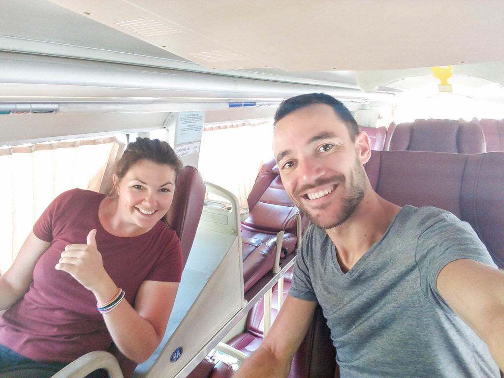 avant le voyage en bus au vietnam