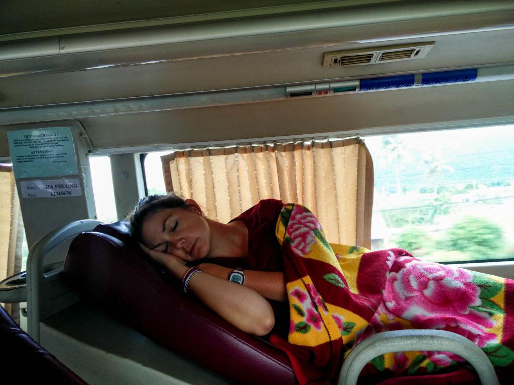 dormir dans un bus au Vietnam