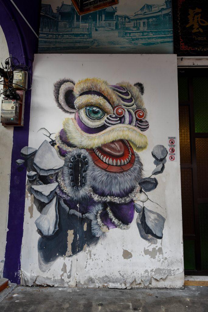 Dragon sur les murs de Penang @neweyes