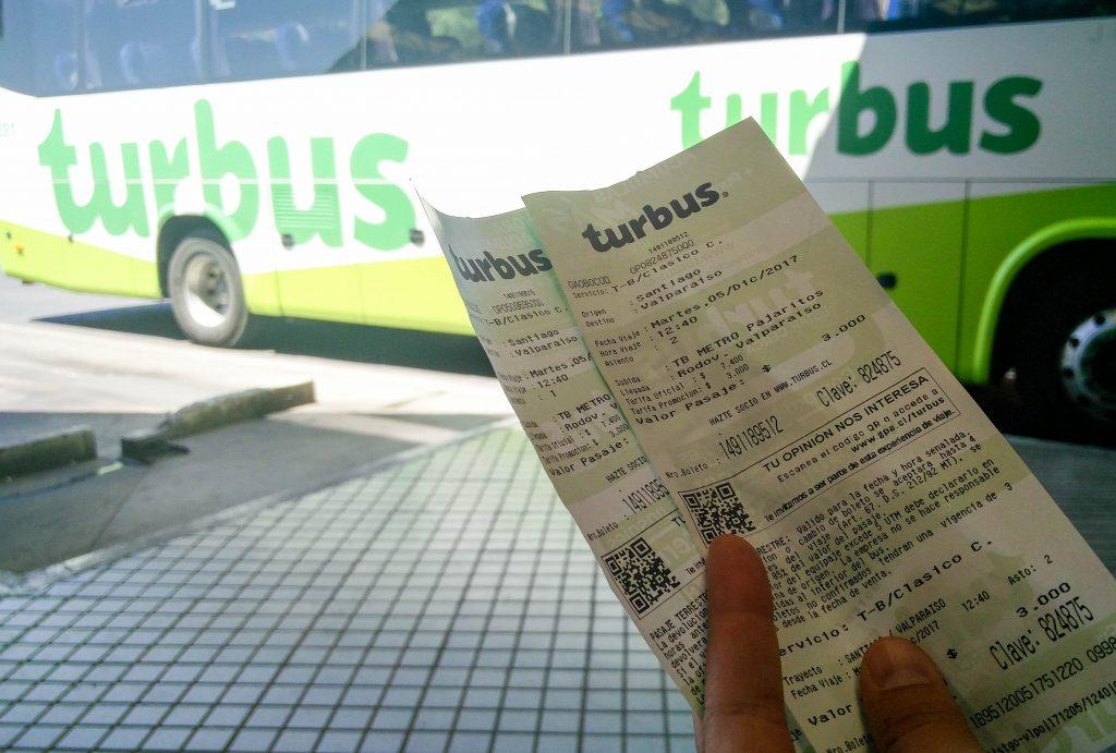 Bus direction Valparaiso pour avoir son RUT sans parrain au Chili