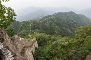 Grande muraille de Chine abandonnée