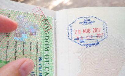 Arrivée au Cambodge en bateau sur le Mékong.