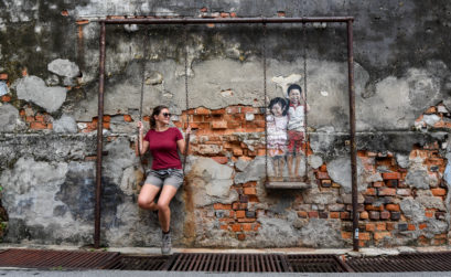 Street art à George Town en Malaisie @neweyes