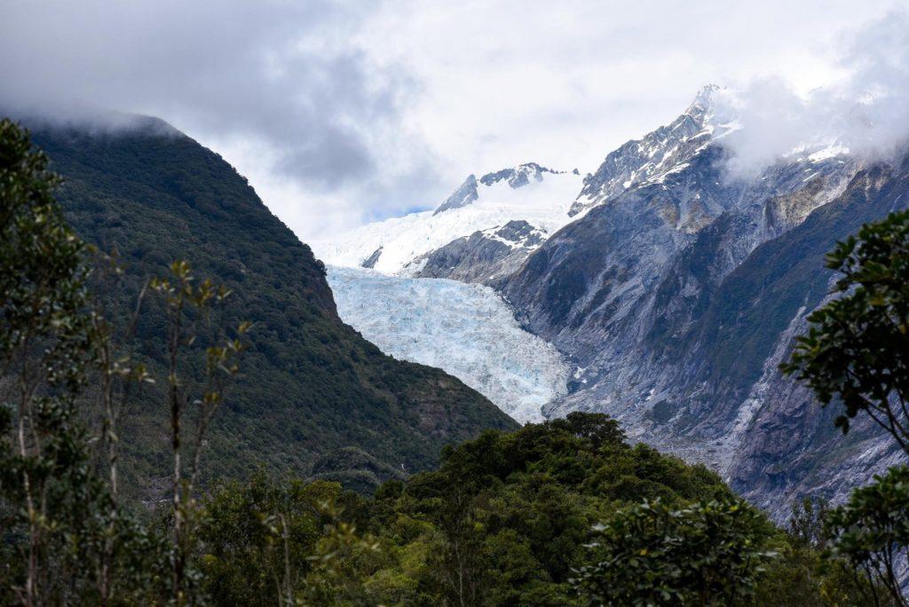 Le glacier Frantz Josef est moins impressionnant que le Perito Moreno